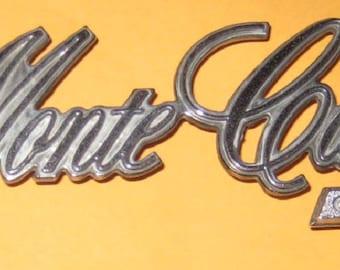 Vintage Monte Carlo Car Emblem / Old/ used/ vintage/ vehicle/