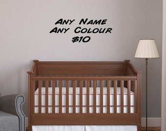 CUSTOM NAME - Any Colour, Any Font Wall sticker / personalised wall decal REMOVABLE