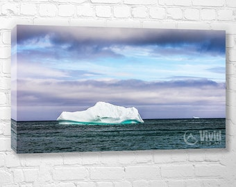 Iceberg print, canvas wall art, large multi tile art, iceberg photography, 4 panel, 5 panel, 3 panel triptych, handmade by artist wall ready