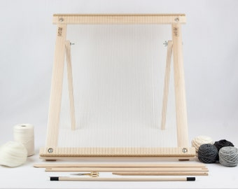 Frame Loom with Stand Weaving Kit Grey