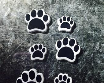 Paw Print Magnets/Set of 6