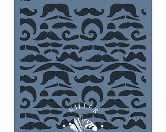 FAST SHIPPING!! Mustaches Stencil