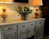 For Sale Capacious Gustavian Grey Antique Edwardian Mahogany Plank Top Dresser Base  Sideboard