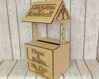 Wedding wishing well,wedding post box,post box,card holder,wedding card holder,wedding cards,wooden post box,
