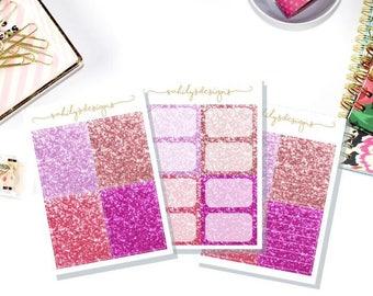 PINK Glitter Stickers