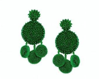 Flamenca earrings - GREEN