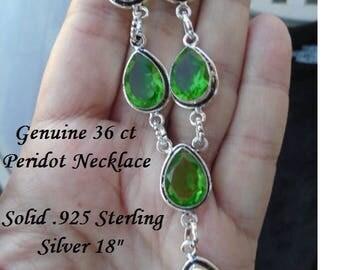 36 ct Peridot Necklace
