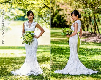 Crochet Wedding Dress Train Pattern