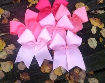 Pink Bows//cheer bows//birthday gift//pink cheer bow//cheer//bows
