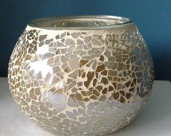 Fragranced Candle, Soy Wax, Handmade, Large Mosiac Glass Designer Bespoke Candle, Jo Malone, 500ml