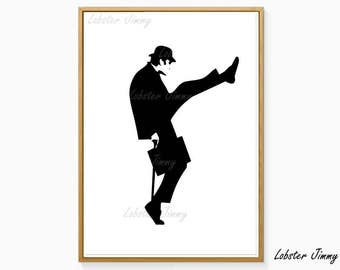 Monty Python, Ministry of Silly Walks, Funny Digital Art, Silly Walk