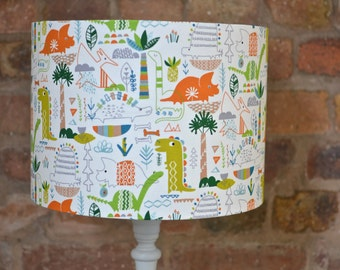 Dinosaur Lampshade, Children's lampshade, Nursery lampshade, Nursery decor, animal lampshade, Dinosaur bedroom, Kids lamp, boys lampshade