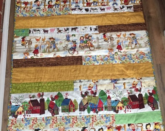 ON SALE Little Cowpokes Baby Quilt