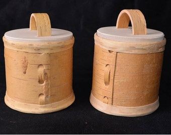 All, birch bark boxes