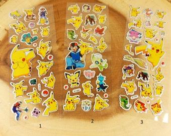 Pokemon Stickers, Scrapbooking Stickers, Children's Comic, Crafting, Pikachu, Birthday Party Bag Filler