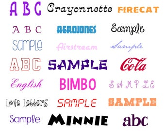 FONT ALPHABET LETTERS (vp3) designs pack for embroidery machine, instant download