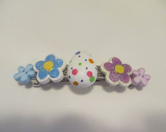 Easter Barrette, Gifts for her, Gifts for girls, Gifts for women, Easter Gifts, Easter Egg Barrette, Button Barrettes, Gifts for kids