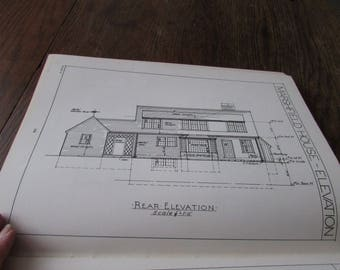 1949 Architectural Drawing for Building Trades Book Full of Illustrations