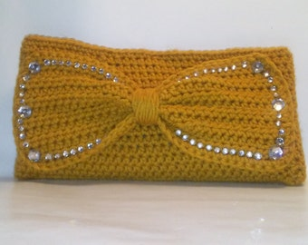 Blinged Out Bow Clutch