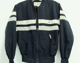 A Teen Boy's SPORTY Vintage 70's,Striped NAVY BLUE P0PLIN Jacket By McGREGOR.L