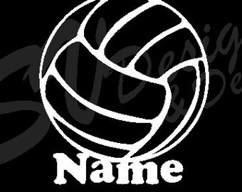 Volleyball Name Decal