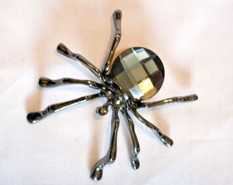 Black Crystal Spider Needle Minder, needle keeper, needle holder, cross stitch accessory