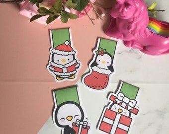 Magnetic bookmarks | Christmas penguin