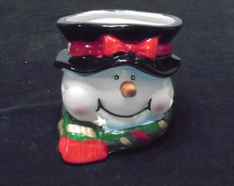Snowman Votive Holder