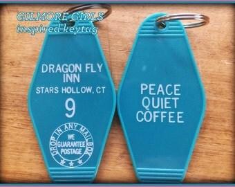 "On Sale! GILMORE GIRLS inspired ""Dragon Fly Inn"" keyfob"