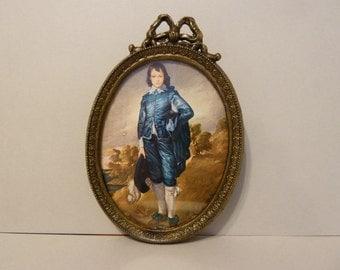Blue Boy Art by: Thomas Gainsborough, Reproduction, w/Ornate Frame