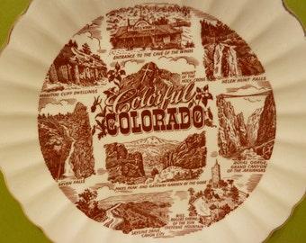 Collectors Plate Souvenir, of, Colorful Colorado
