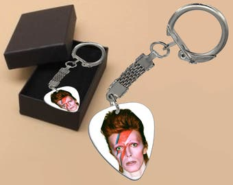 David Bowie Keyring in Gift Box