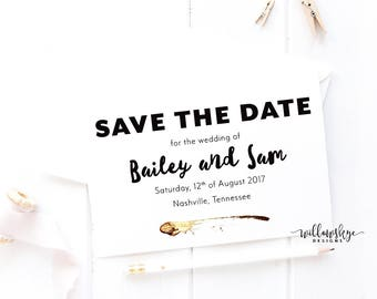 Black & Gold Save the Date -- SAMPLE