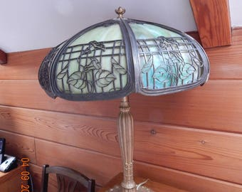 1920's  Royal Slag Glass Lamp