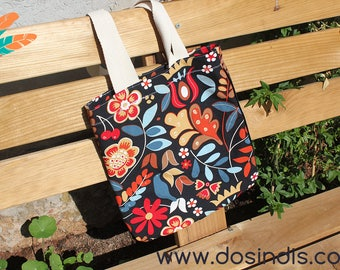 Tote Bag flowers canvas