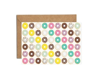 Blank Donuts Greeting Card | Clearance Sale