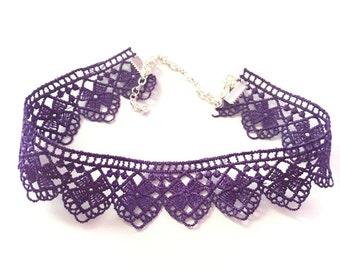 Purple Choker Necklace