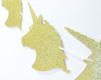 Unicorn Banner, Unicorn Party Decor, Unicorn Birthday Party, Gold Glitter Unicorn Banner, Unicorn Backdrop, Unicorn Photo Prop, Unicorns