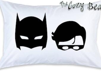 Batman and Robin Masks Children's Pillow Case (1)