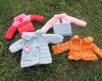 4 x hand-knitted sweater Blythe free shipping