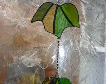 Stained Glass Ivy suncatcher,Vine suncatcher,Cascade Ivy,