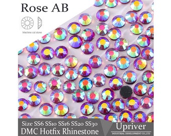 Hotfix DMC Rose AB Color Flatback Rhinestones-Garment Accessories-Craft  Supplies-DIY Decoration-Decor Supply-ss6 ss10 ss16 ss20 ss30(FRS54) 6eac4105987c