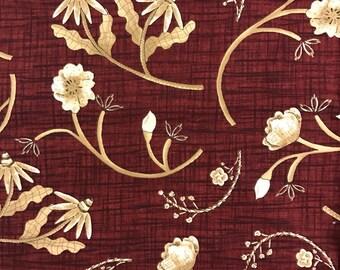 Beige Flowers Fabric Lengths by Debbie Mumm