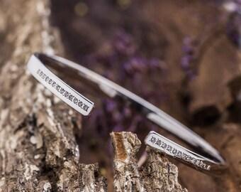 14K White Gold Bracelet set with Natural White Diamonds,Diamonds Cuff Open Bracelet, White Gold Bracelet, Zehava Jewelry