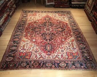 Vintage Persian Rug 88 X 114