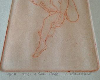 Ivan Valtchev AP Print/Ivan Valtchev Lithograph Artist Proof/Original Art Proof/Ballerina Art/Ballerina Original Art/Signed Art Valtchev