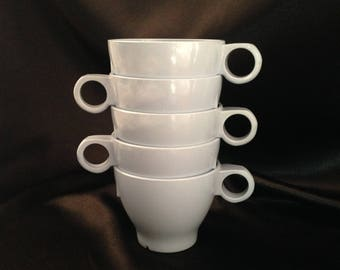 Blue Melmac Boontonware 3203-7 teacup set 6/Melamine blue coffee cup/Melamine teacup/Vintage Boontownware Melamine Melmac blue cup set of 5