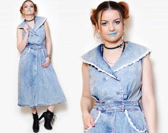 denim Dress women casual dresses summer hippie clothes lace vintage clothing boho button down dress short sleeve 90s maxi