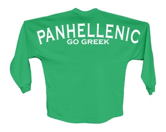 NPC National Panhellenic Conference  Go Greek Choose Your Colors Sorority Oversized Jersey