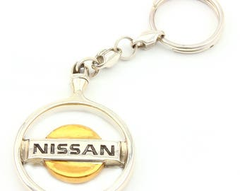 "Silver Key chain ""Nissan"""